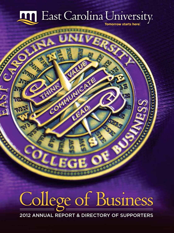 ecu honors college business plan