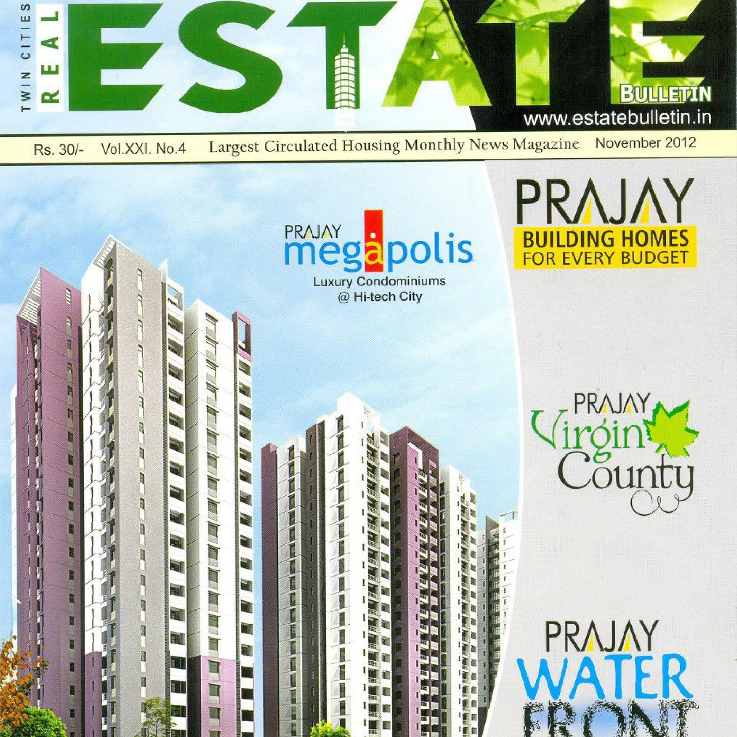 November 2012 by real estate bulletin issuu for V muraleedharan family