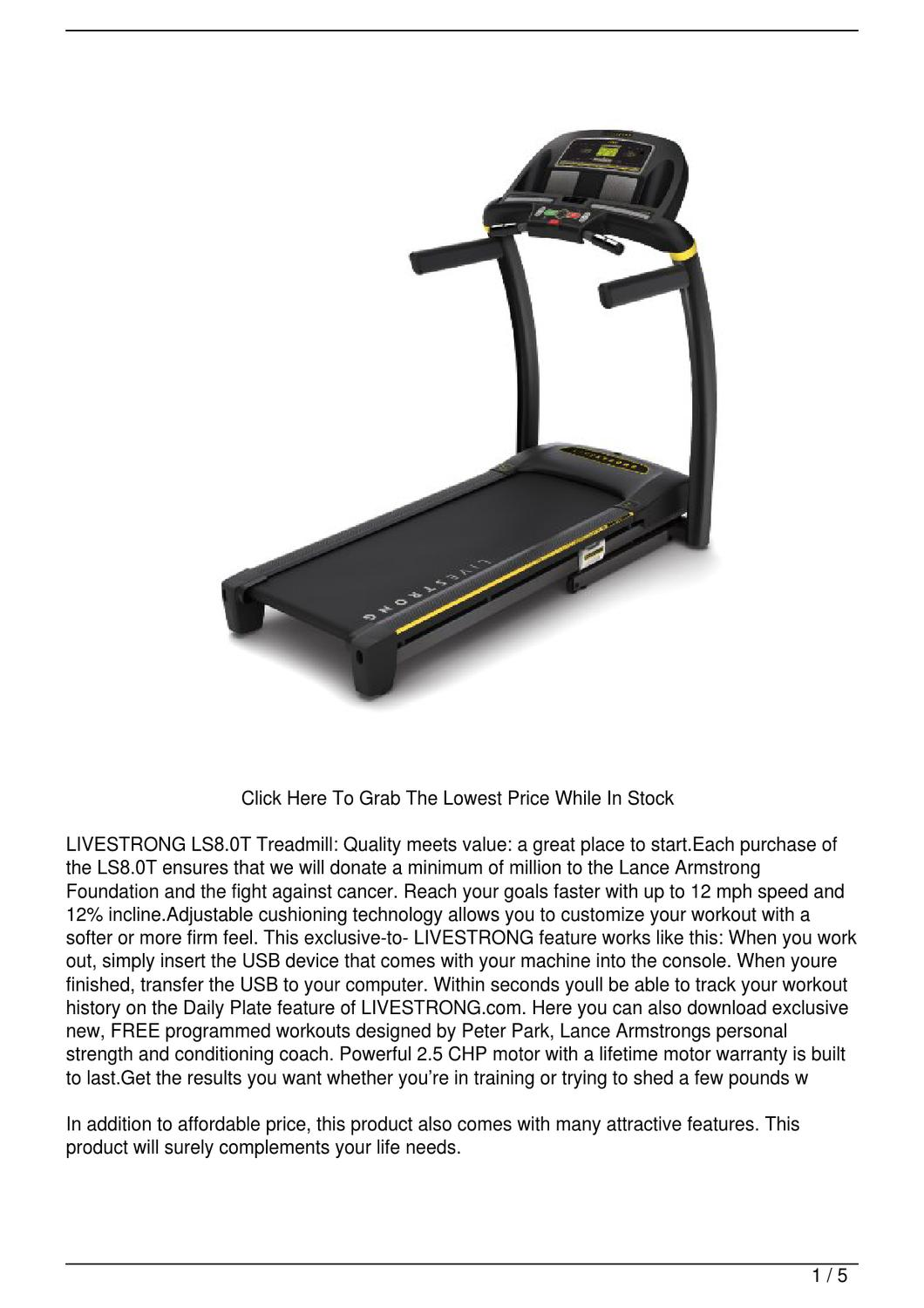 livestrong ls 8.0 t treadmill manual