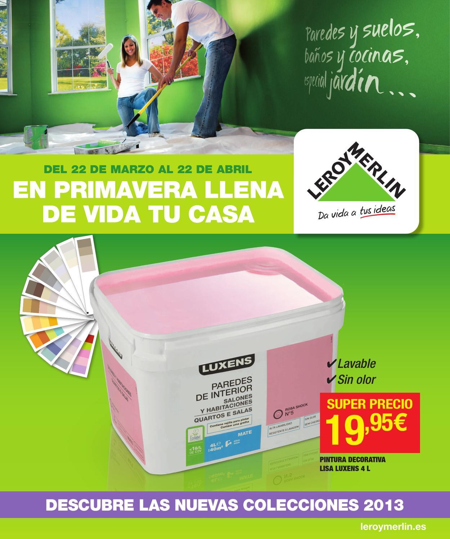 Catalogo de ofertas de leroy merlin primavera 2013 by for Catalogo de leroy merlin