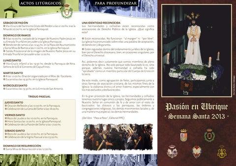 Tríptico Semana Santa de Ubrique 2013