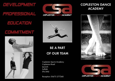 CSA Dance Leaflet