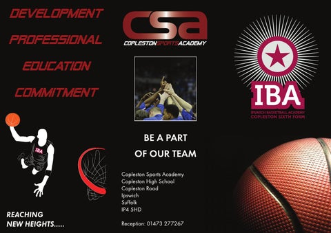 CSA Basketball Leaflet