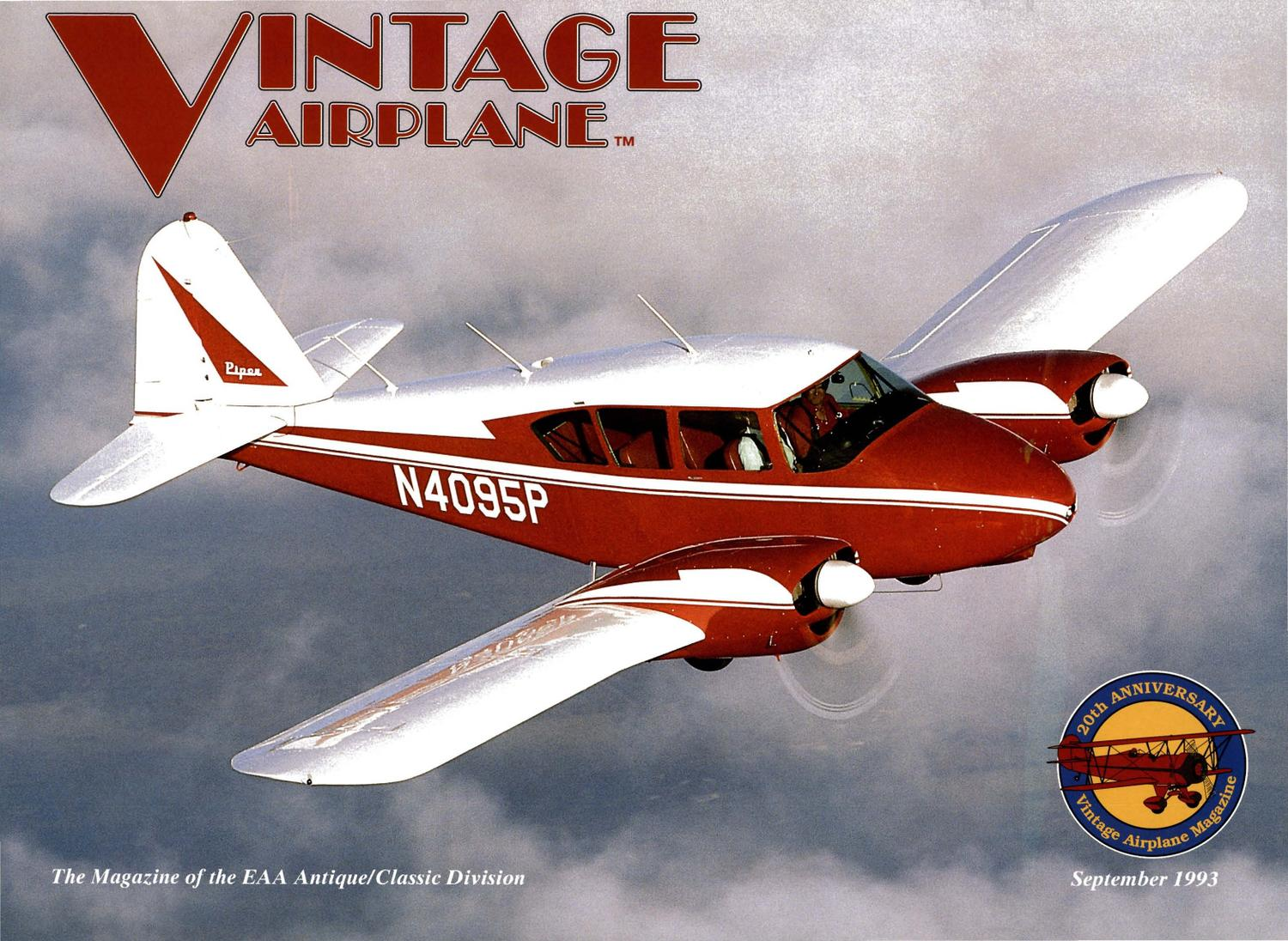 Va vol 21 no 9 sept 1993 by eaa vintage aircraft for American classic homes waco tx