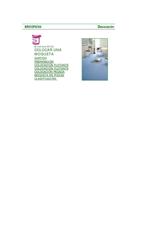 Colocacion de alfombras by fernando tec issuu for Clasificacion de alfombras