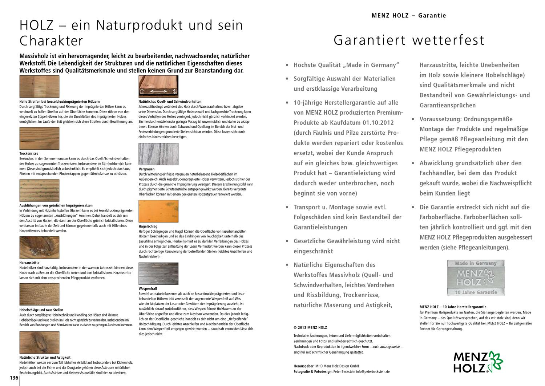 Menz Holz Katalog Premium 2013 by ZT Medien AG - issuu