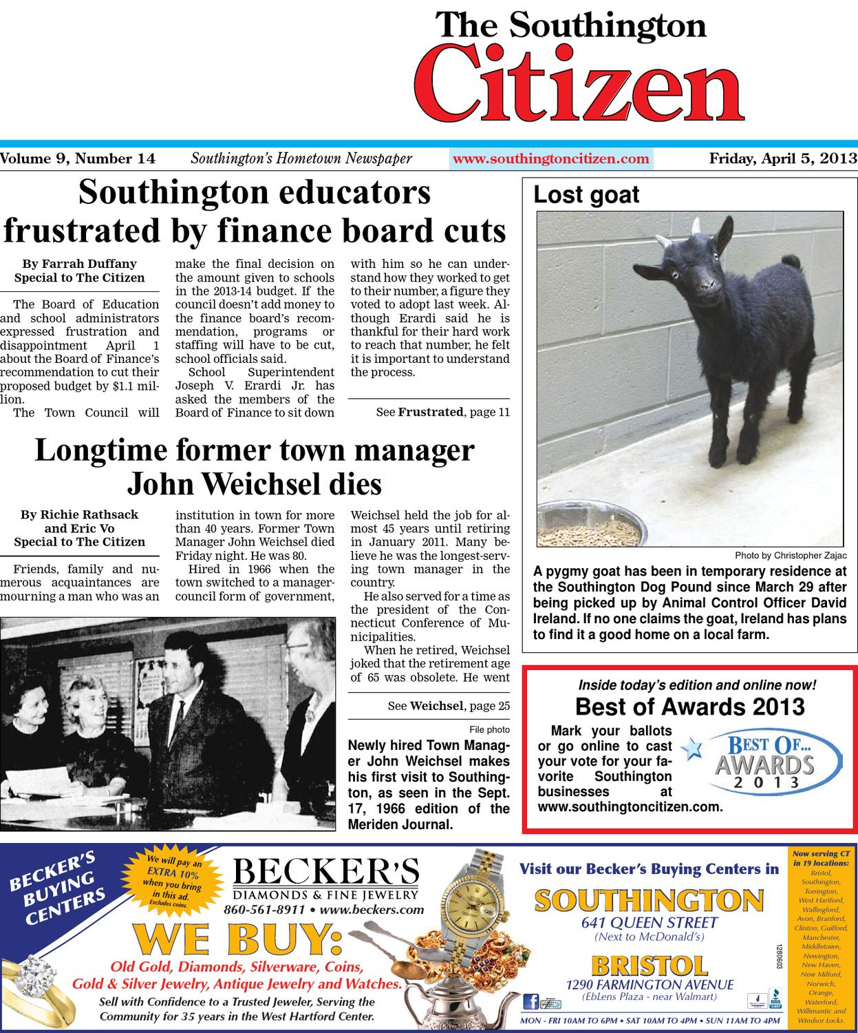 04 12 2013 The Southington Citizen By Dan Champagne Issuu