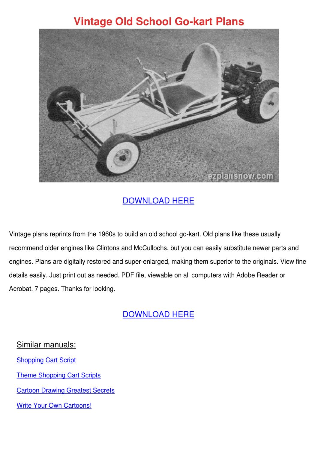 Starting a Go Cart Racing Company – Sample Business Plan Template