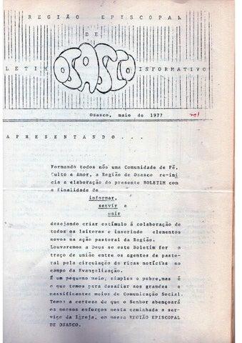 [Bio Região Episcopal Osasco Maio 1977]