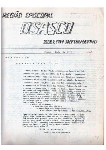 [Bio Região Episcopal Osasco Junho 1977]