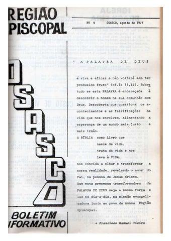 [Bio Região Episcopal Osasco Agosto 1977]