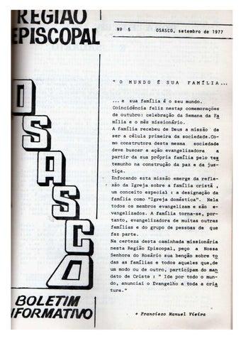 [Bio Região Episcopal Osasco Setembro 1977]