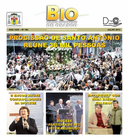 [Bio Diocesano Julho 2012]