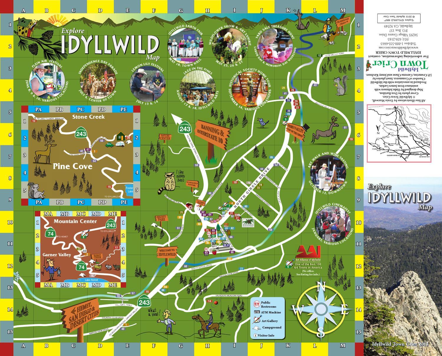 Explore Idyllwild Map 2013 By Idyllwild Town Crier Issuu