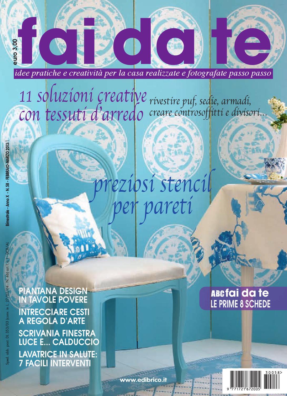 Fai da te febbraio marzo 2013 by edibrico issuu - Rivestire divano fai da te ...