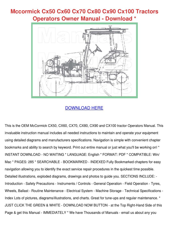 mccormick cx50 cx60 cx70 cx80 cx90 cx100 trac by beckie aina issuu