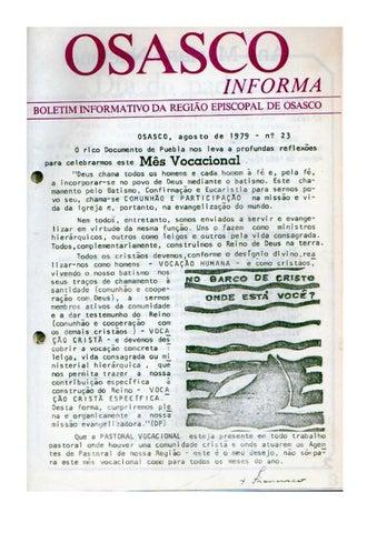 [Bio Região Episcopal Osasco Agosto 1979]