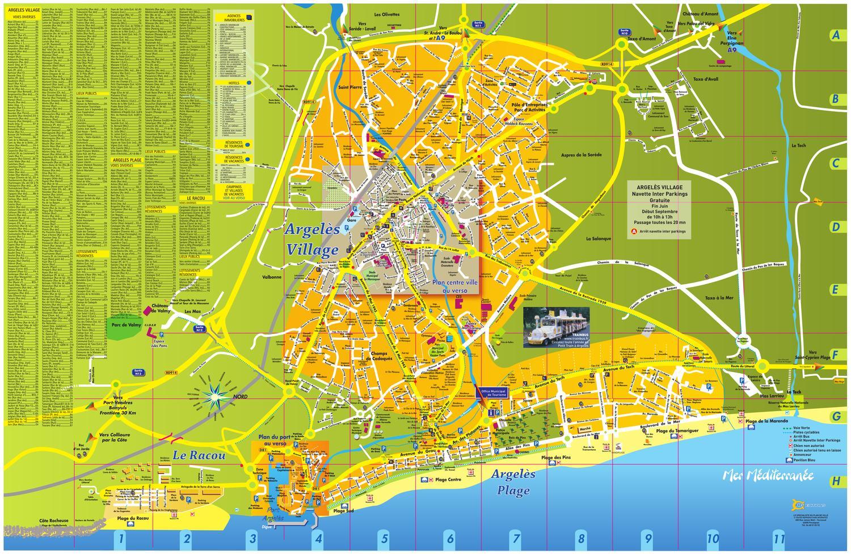 Plan ville argeles sur mer 4f990d91f2c65 by argel s sur - Office du tourisme d argeles sur mer ...