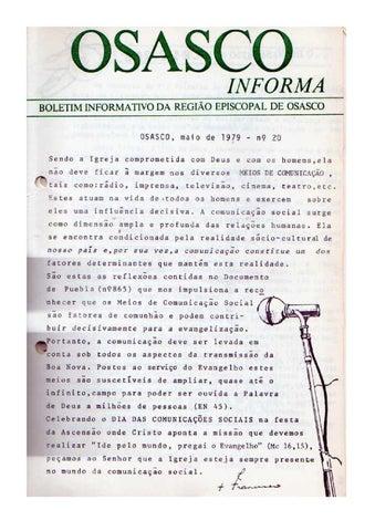 [Bio Região Episcopal Osasco Maio 1979]