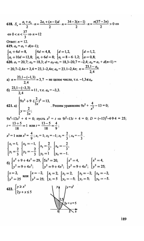 9 год алгебра 2001 гдз класс