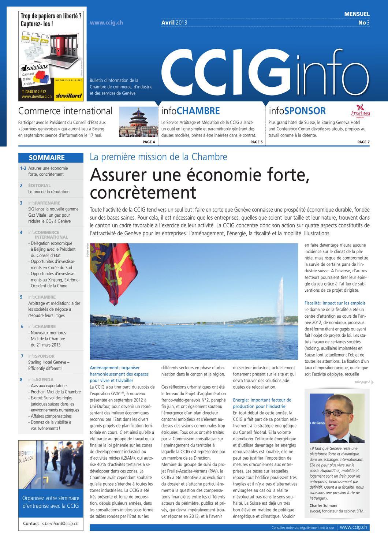 Cciginfo no 3 avril 2013 by ccig issuu - Chambre internationale de commerce arbitrage ...