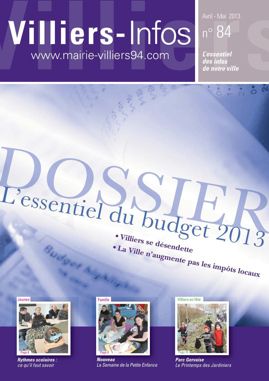 Villiers infos 84 by mairie de villiers sur marne issuu for Villiers 86