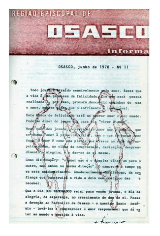 [Bio Região Episcopal Osasco Junho 1978]