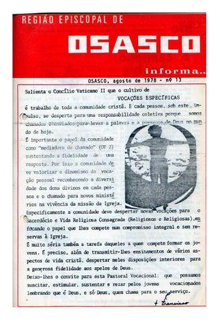[Bio Região Episcopal Osasco Agosto 1978]