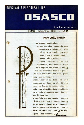 [Bio Região Episcopal Osasco Outubro 1978]