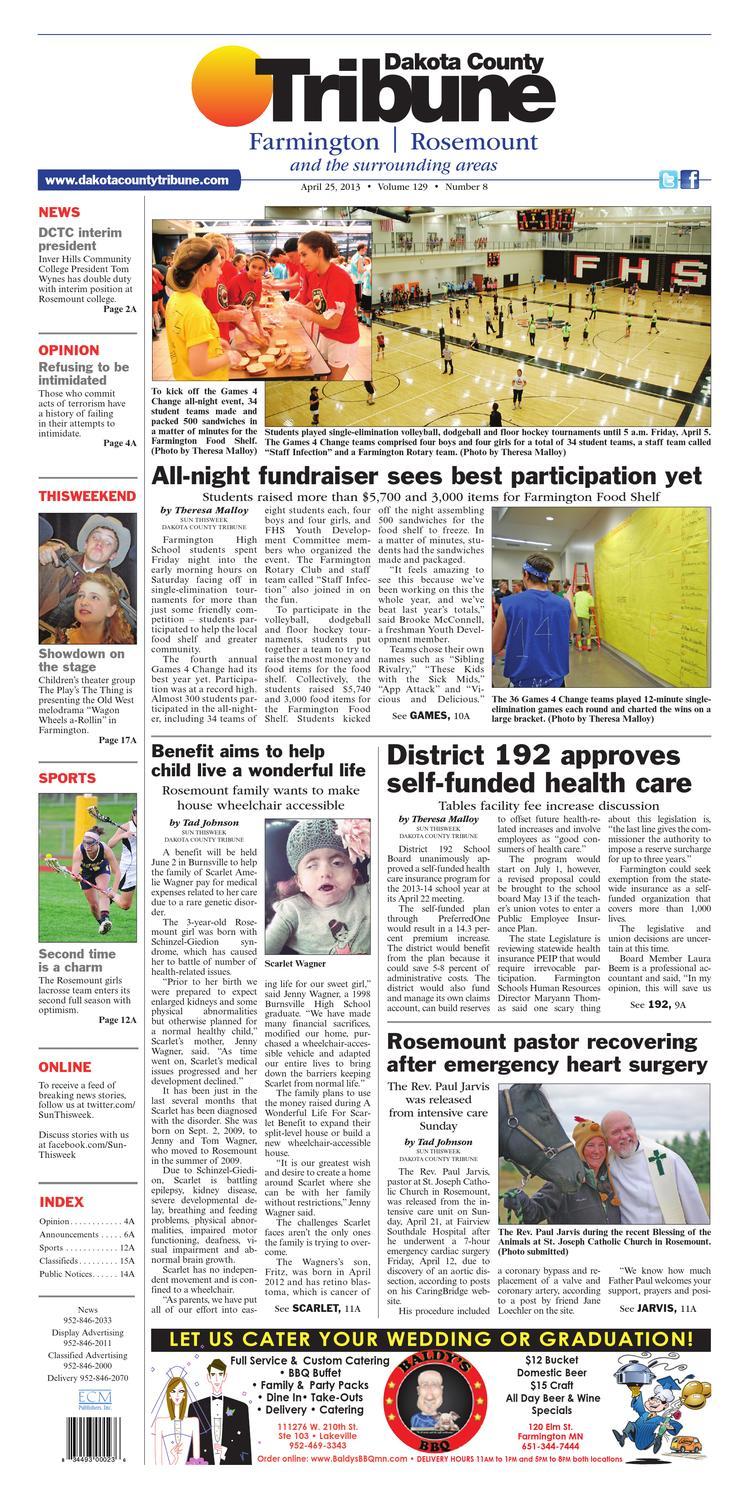 Dakota County Tribune Farmington And Rosemount By Dakota County