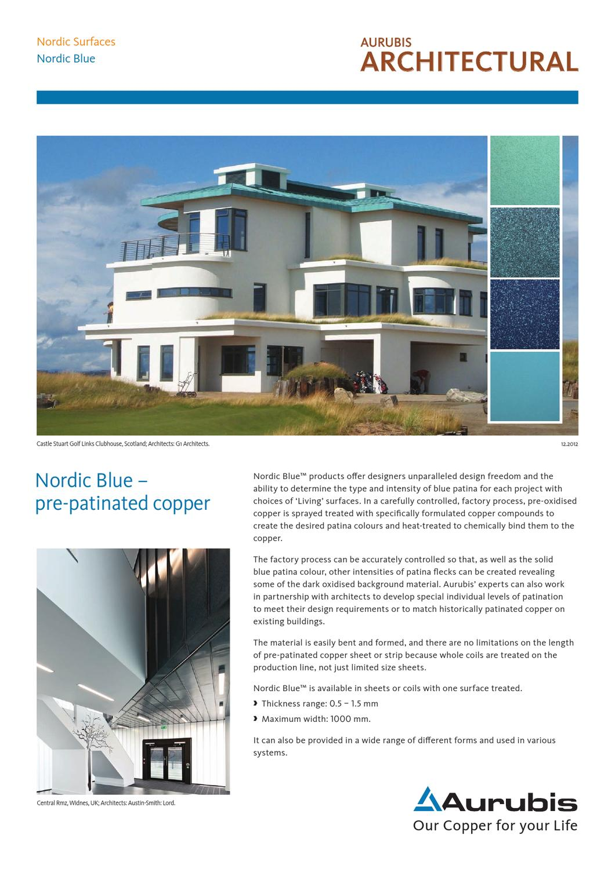 aurubis datasheet nordic blue by aurubis finland oy issuu. Black Bedroom Furniture Sets. Home Design Ideas