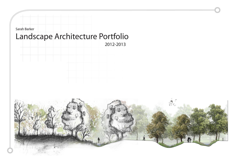 Sarah barker undergraduate landscape architecture for Garden design portfolio