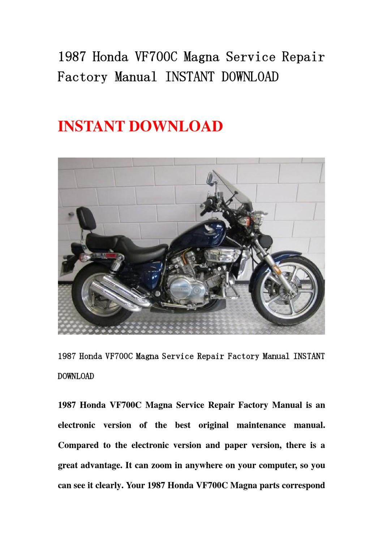 1987 honda magna 700 owners manual