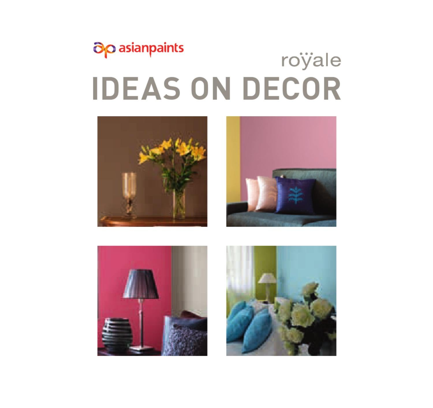 Ideas on decor book web by asian paints limited issuu for Furnishing websites