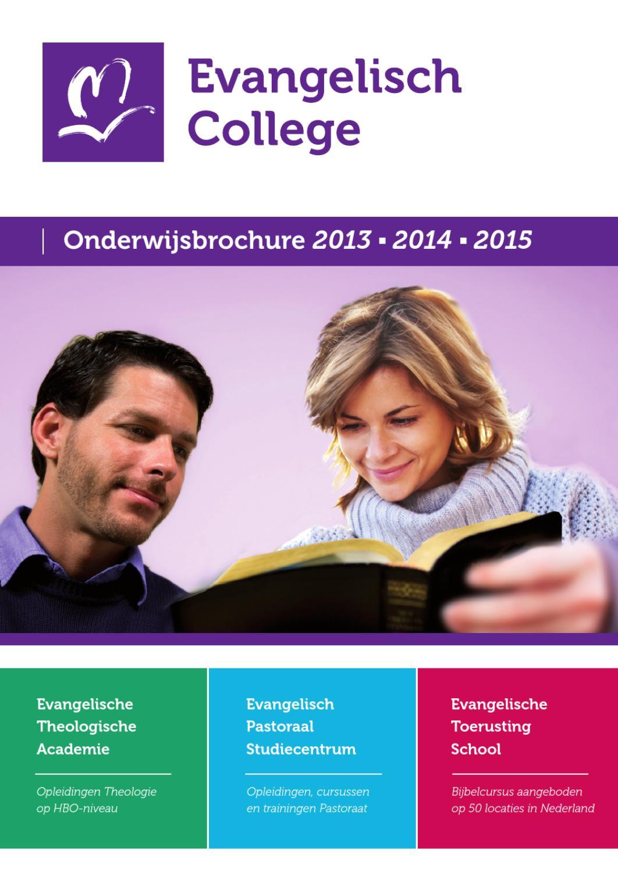 Onderwijsbrochure 2013 2014 2015 by evangelisch college for Evangelische school