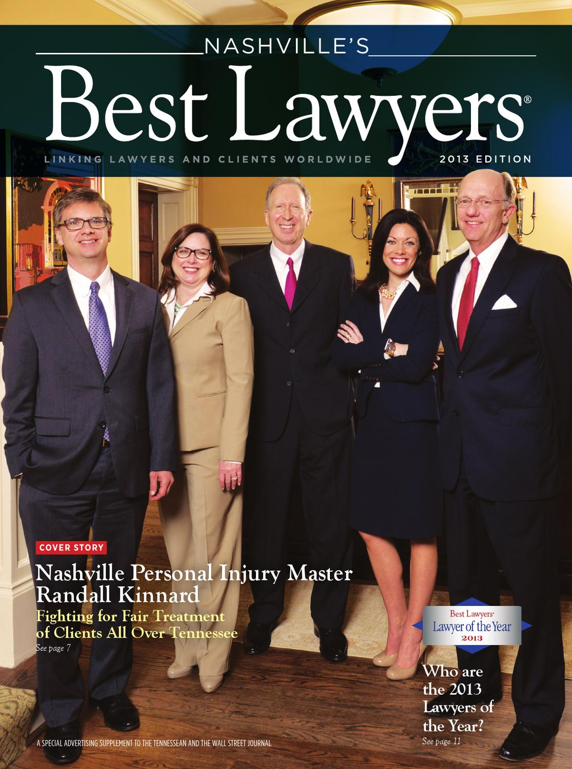 Nashville S Best Lawyers 2013 By Best Lawyers Issuu
