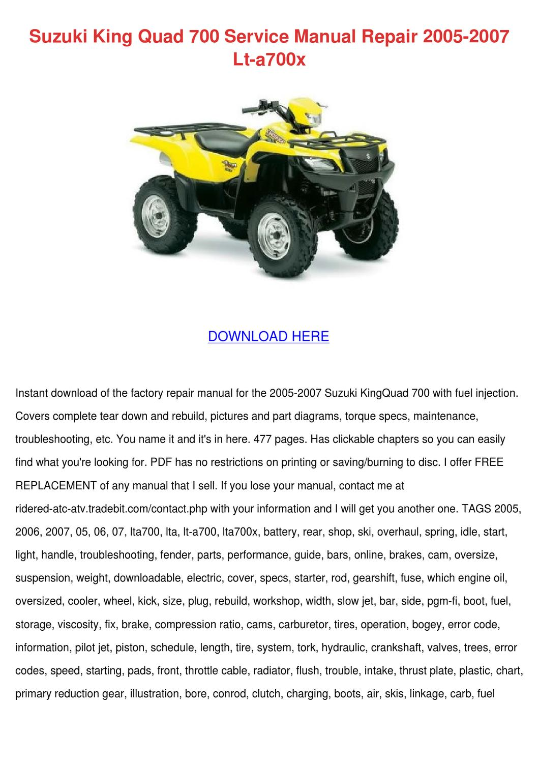 suzuki b king owners manual pdf