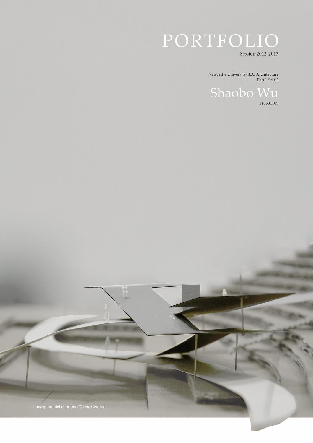 Shaobo wu architecture portfolio session 2012 2013 by for Architecture portfolio