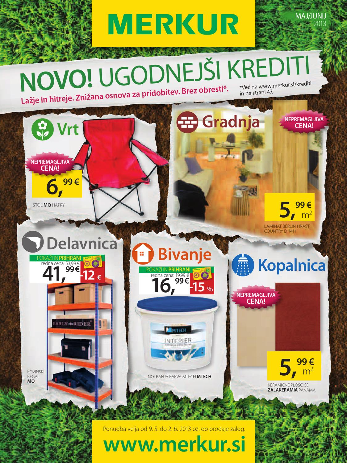 merkur katalog maj 2013 vrt gradnja delavnica bivanje. Black Bedroom Furniture Sets. Home Design Ideas