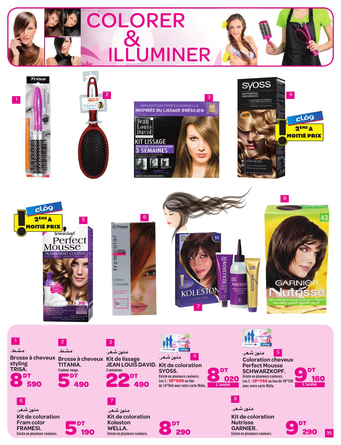 catalogue carrefour t 2013 by carrefour tunisie page 35 issuu - Syoss Coloration Prix