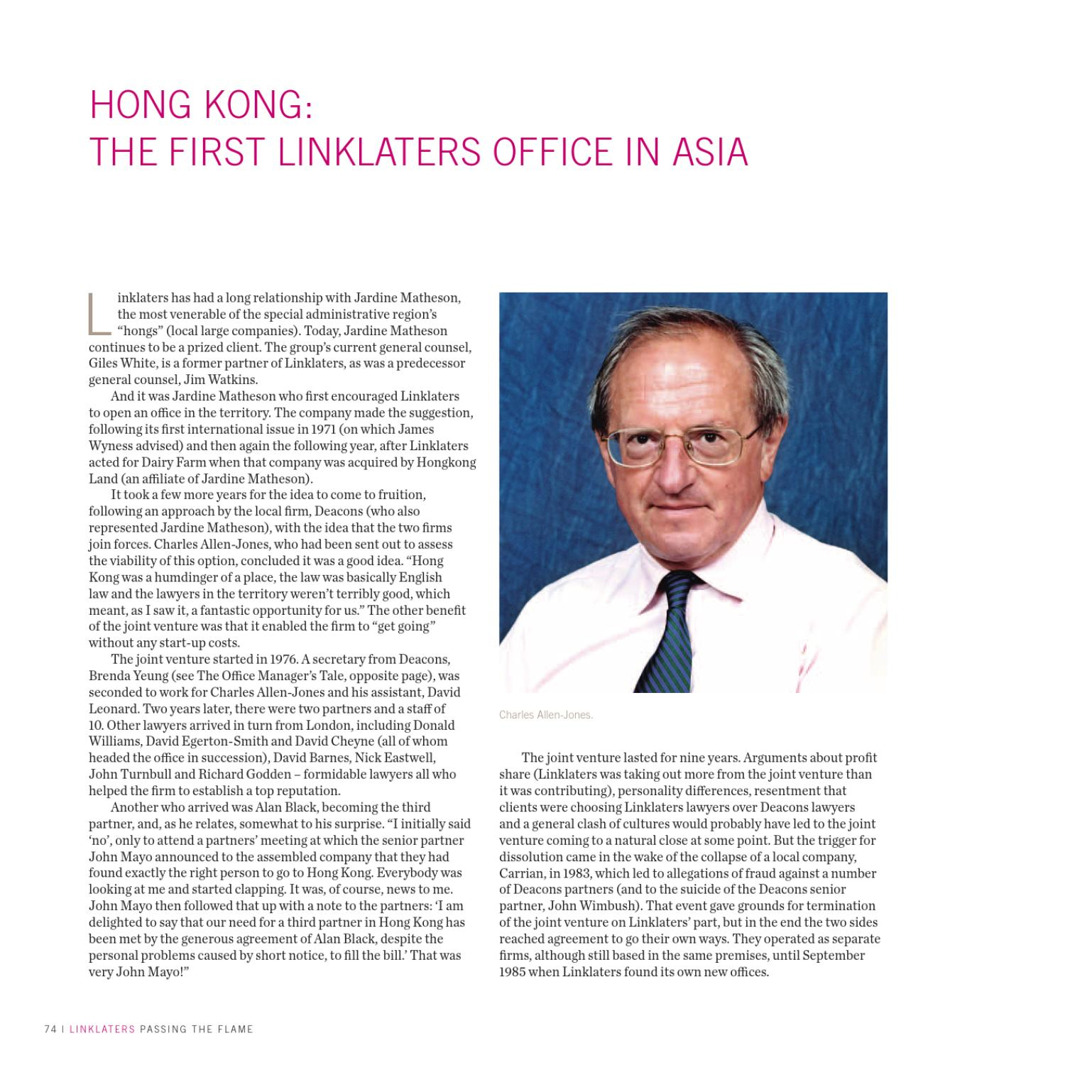 Jardine Matheson Hong Kong: Passing The Flame By Linklaters (page 82)