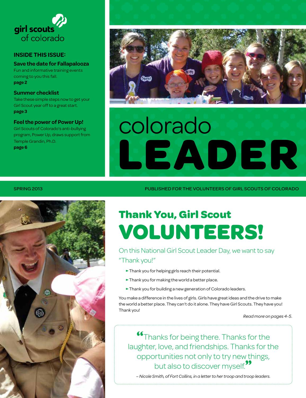 colorado leader   spring 2013 by girl scouts of colorado