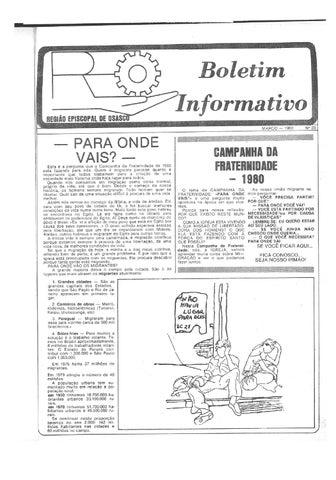 [Bio Região Episcopal Osasco Março 1980]