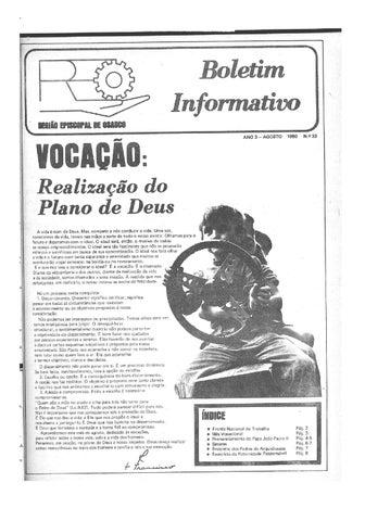[Bio Região Episcopal Osasco Agosto 1980]