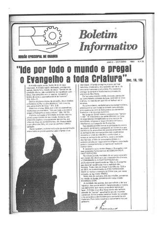[Bio Região Episcopal Osasco Outubro 1980]