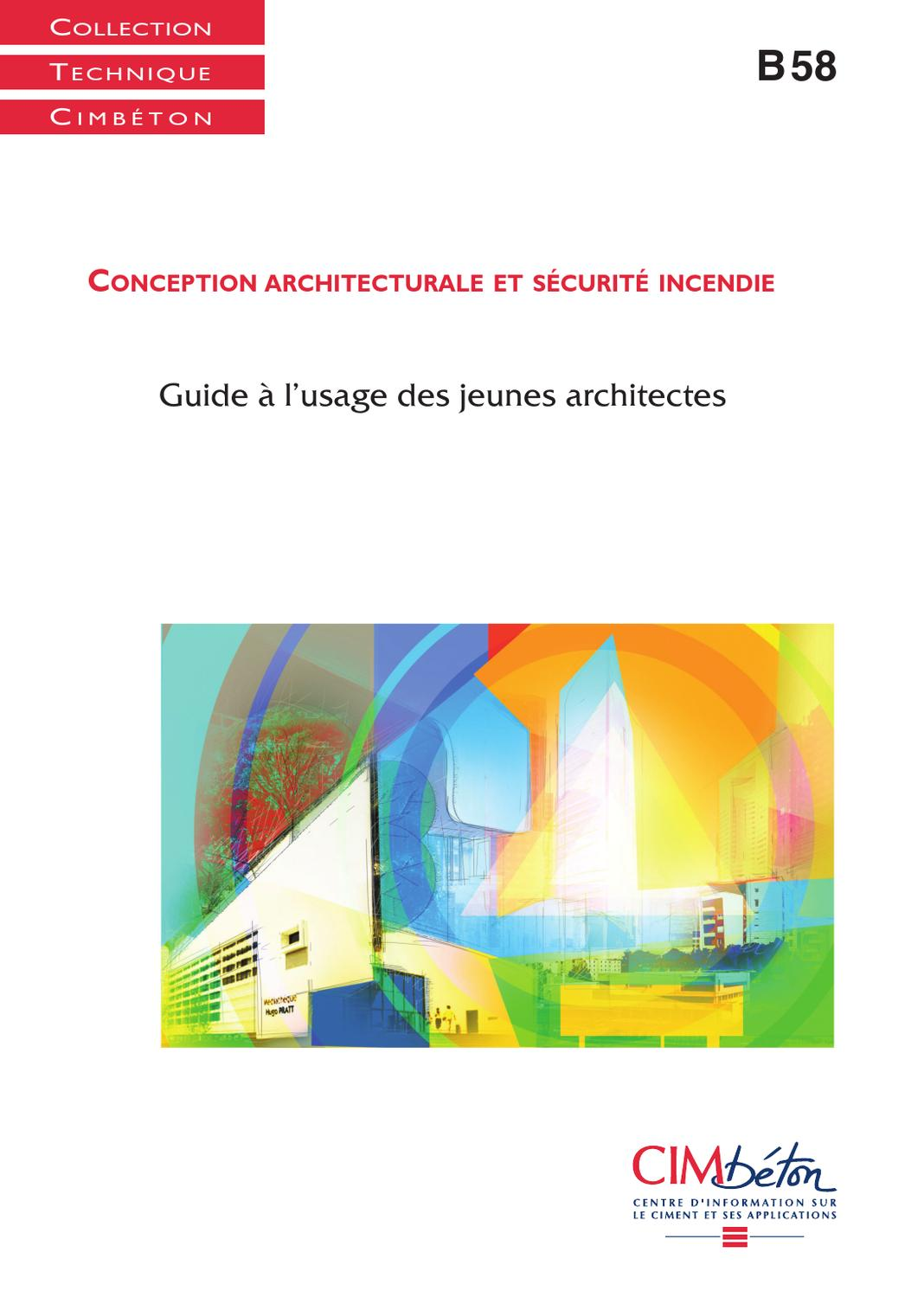 B58 conception architecturale et s curit incendie by for Conception architecturale