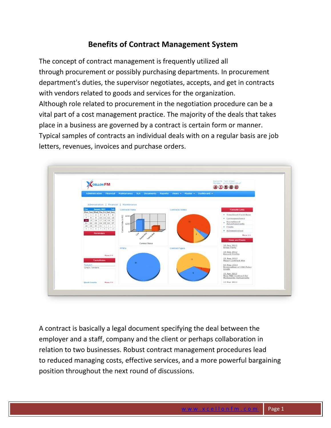 Contract Management System : Advantages of effective contract management system by