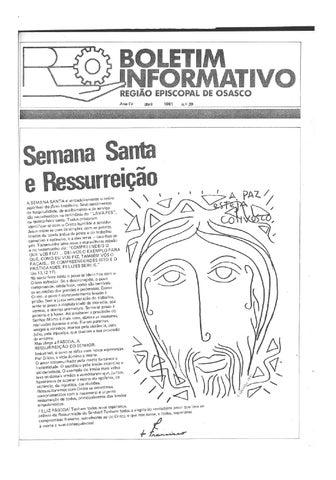 [Bio Região Episcopal Osasco Abril 1981]