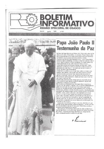 [Bio Região Episcopal Osasco Junho 1981]