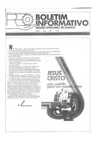 [Bio Região Episcopal Osasco Julho 1981]